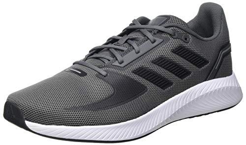adidas RUNFALCON 2.0, Zapatillas para Correr Hombre, Grey Five/Core Black/Grey Three, 44 EU