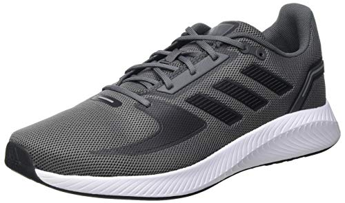 adidas RUNFALCON 2.0, Zapatillas para Correr Hombre, Grey Five/Core Black/Grey Three, 44 EU