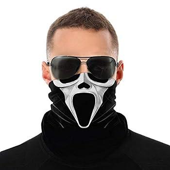 Scream Dibujo Face Bandana Balaclava for Men Women Sun Uv Protection Reusable Half Mask Scarf Neck Gaiter