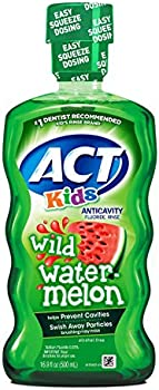 3-Pack ACT Kids Anti-Cavity Wild Watermelon Fluoride Mouthwash, 16.9 Ounce