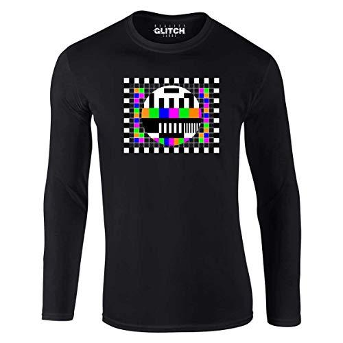 Test Card Long Sleeve T-shirt, Black, S to XXL