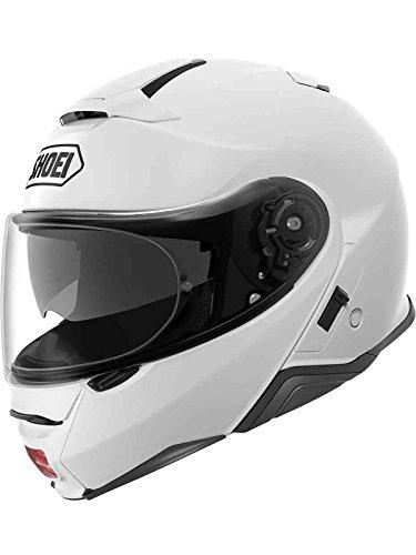 Shoei Casco Convertibile Flip-Up Moto Neotec 2 Plain Bianco (Xxl, Bianco)
