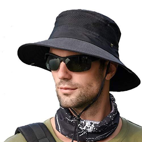 anaoo Sombrero Hombre Gorra de Verano Sombrero Pesca del Sol Gorra al Aire Libre Sombrero...