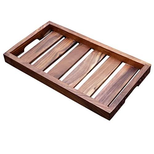 Fleurs De Rocaille Juego de 3 bandejas de madera de palisandro hechas a mano y hechas a mano, color marrón, 25 x 15 x 5 cm, precio especial