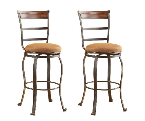 ACME 96048 Set of 2 Tavio Swivel Bar Chair, 29-Inch