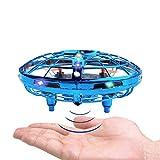 BRAND SET Versione Aggiornata del UFO Mini Drone Giocattoli Volanti con Luci a LED Induzione a Infrarossi Controllato a Mano Mini Giocattoli Drone Facili Adatto a Bambini dai 5 ai 15 Anni-Blu