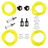 HUZTL 4 Size 4-Feet-Long Fuel Line Gas Hose Tube for Small Engine Weedeater Craftsman Husqvarna String Trimmer Chainsaw Blower with Snap in Primer Bulb, Primer Pouland Bulb, Fuel Filter