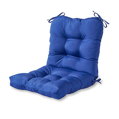 Greendale Home Fashions Indoor/Outdoor Seat/Back Chair Cushion, Marine Blue