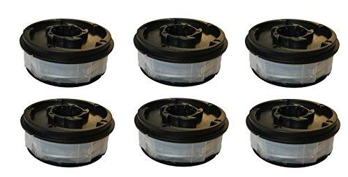 6X Rasentrimmer Doppelfadenspule für ALDI Gardenline Elektro Rasentrimmer GLR 450 451 452 453 454 455 456 457 458 459 & GLR 450/1 450/2 450/3 450/4 450/5 450/6 450/7 450/8 450/9 & GLT 451-459