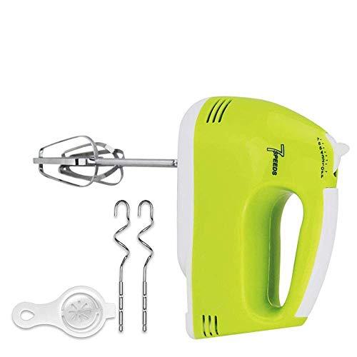 HRSS Handelektrische Mixe Elektro Eggbeater Mixer Handmixer Elektro-Stock-7-Gang witTurbo Taste One Button Eject Design enthält Chrome Schlägel, DougHooks