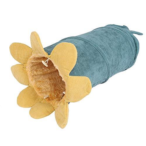 TXX Faltbarer Katzen-Tunnel-gemüse-Design-Haustier Interaktives Zusammenklappbares Spielzeug (Gurke)