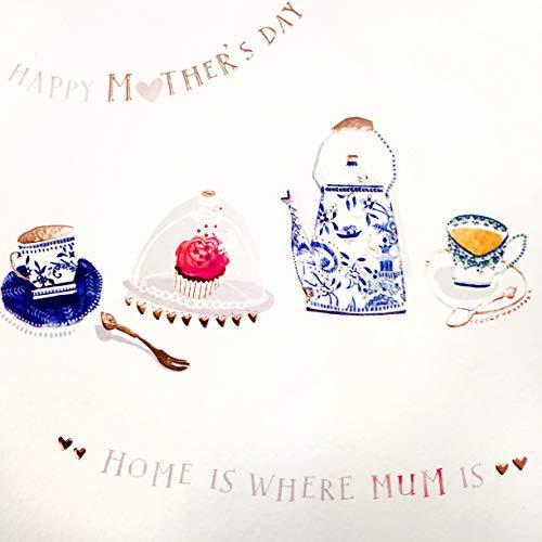 Moederdagkaart - Thee bij mama - 6.25 x 6.25