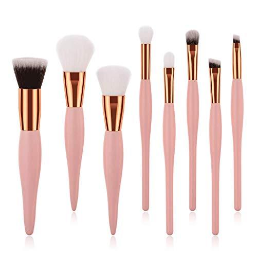 Eyeshadow Brushes 8 Pièce Maquillage Brosse Ensemble Outils De Beauté Ventilateur Brosse Yeux Brosse Concealer Fondation Brosse Petite Enceinte Ventre Poignée Professionnel Facial (Couleur : Pink)