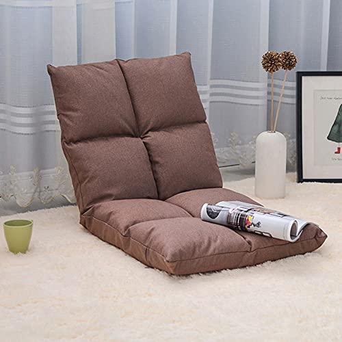 Sedia per pavimento imbottita con schienale regolabile 6 posizioni Pieghevole imbottito per bambini di divano da gioco per bambini, perfetto per la meditazione, la lettura, la TV a guardare adatta per