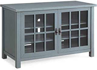 Better Homes and Gardens Oxford Square Blue TV Stand and Console Is Designed to Accommodate Flat Panels TVs up to 55