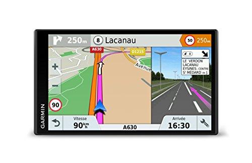 Garmin - DriveSmart 61 LMT-S - GPS Auto - 6,95 pouces - Cartes Europe 46 pays - Cartes, Trafic, Zones de Danger gratuits à vie