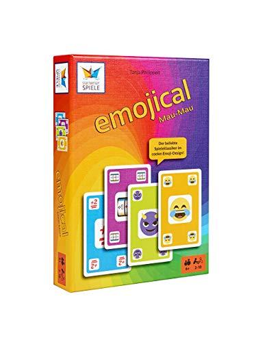 Emojical Mau-Mau von Starnberger Spiele - Spaßiges Kartenspiel für die ganze Familie - Geschenkidee für Emoji-Fans