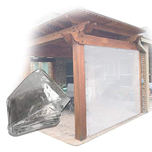 Lona MYAN Impermeable, Toldo Transparente Pantalla Porche El Plastico Chapas PVC Cubrir para Viento/Lluvia Proteccion En Invierno Feroz (Color : Clear, Size : 2M X 2.8M)
