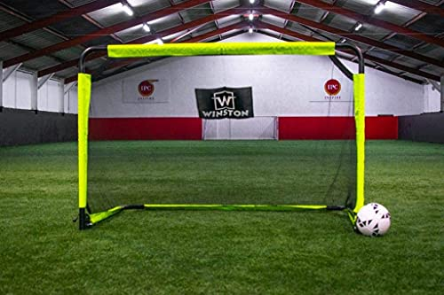 Winston Aluminium Football Goal - Foldable, Portable Football Goal - Football Net for Gardens, Schools, Clubs - Football Goals for Kids (5ft x 4ft)