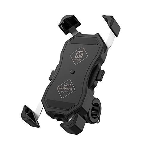 MagiDeal Cargador Inalámbrico USB de Motocicleta Espejo Soporte de Montaje de Carga Rápida Soporte