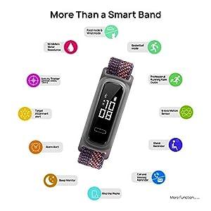 Huawei Band 4e - Pulsera de actividad de elegante diseño con modo Basket, 2 semanas de batería, resistencia al agua 5ATM, sensor de movimiento de 6 ejes, indicador de calorías, Sakura Coral