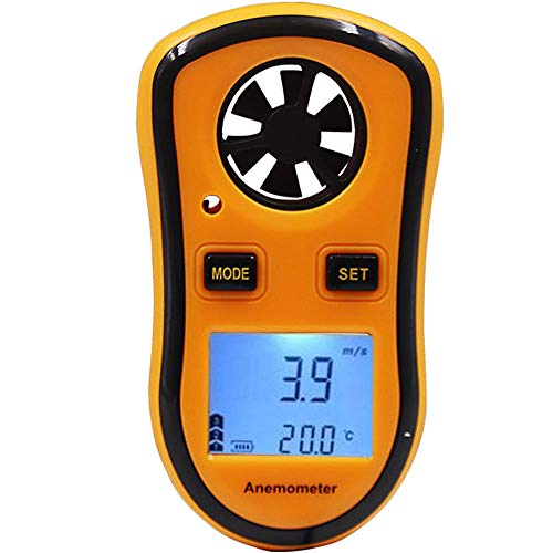 FISHTEC  Anemometro Digitale - velocità del Vento/Temperatura/Scala Beaufort - Ideale per la Vela, la Pesca, Il Kite e l'alpinismo
