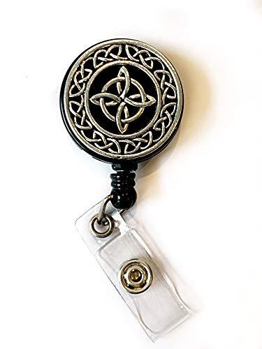 Badge reel- Celtic Knot retractable badge reel for nurse./ teacher. Irish badge reel
