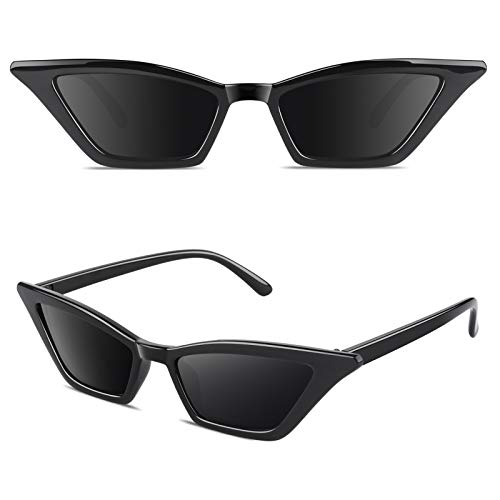 GQUEEN Gafas Vintage Clout Lentes de sol tipo ojo de gato Estilo a la moda y con protección UV lentes tipo Kurt Cobain,GQS8