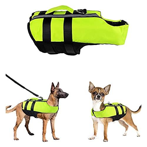M3 Decorium Jackets de la Vida de los Perros: Pet Nativo Vestido: Traje de baño planteador de flotadores con flotabilidad y Mango de Rescate- Playa Adecuada (Color : S)