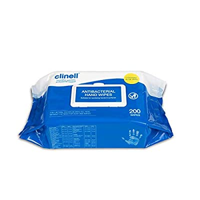 Clinell Antimicrobial Hand and Surface Wipes x100 by Clinell