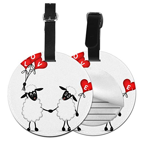 Luggage Tags Sheep Love Suitcase Luggage Tags Business Card Holder Travel Id Bag Tag