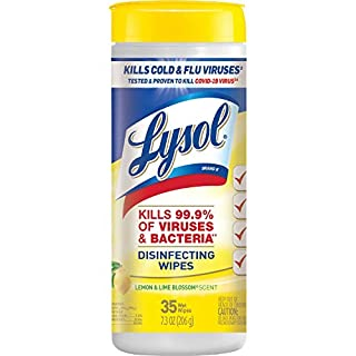 Lysol Disinfectant Wipes, Multi-Surface Antibacterial Cleaning Wipes, For Disinfecting and Cleaning, Lemon and Lime Blossom, 35 Count (Pack of 1) (B001AH3G4O)   Amazon price tracker / tracking, Amazon price history charts, Amazon price watches, Amazon price drop alerts
