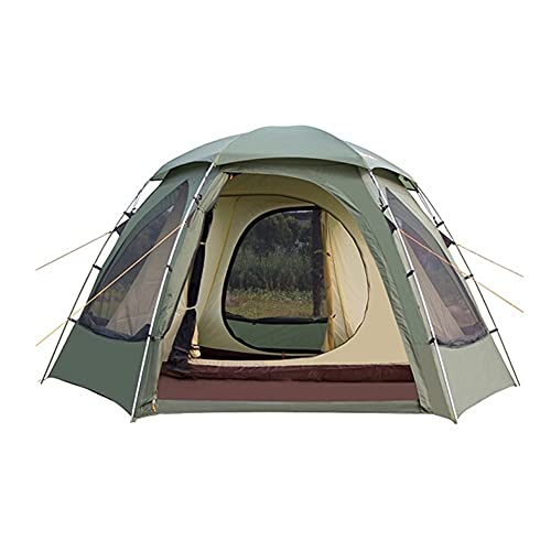 ZSP Carpas Impermeable Doble Camping Camping Tienda de campaña Malla Windows Instant Tienda Fácil configuración Senderismo 3-4 Persona Tienda al Aire Libre (Color : Green)