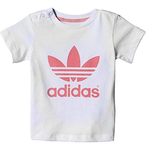 adidas Originals Adicolor Baby Trefoil Tee Niños Tiempo Libre–Camiseta Blanco Rosa blanco
