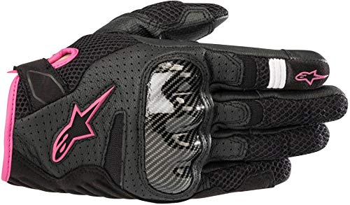 Alpinestars Motorradhandschuhe Stella Smx-1 Air V2 Gloves Black Fuchsia, Schwarz/Fuchsia, S