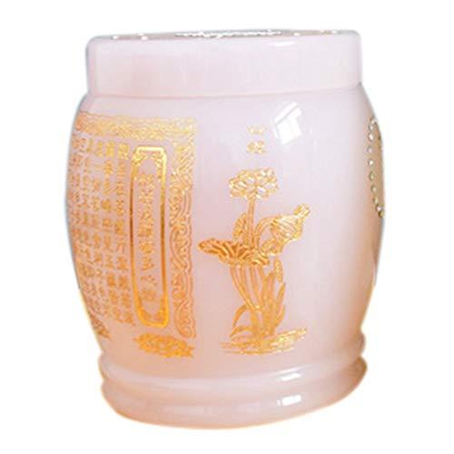 XIANGAI Boîte funéraire en urne de Jade Écriture Jade Autel de Cendres Bocal de Cendres Cendres (Color : A)