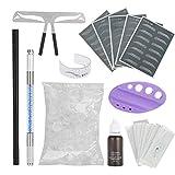 Kit de microblading para cejas Microblading Semi-Permanente Maquillaje de cejas Tatuaje Pluma Pigmento Hoja Herramientas de práctica