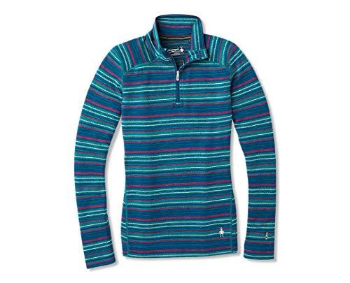 Smartwool Women's Base Layer Top - Merino 250 Wool Pattern Active 1/4 Zip Outerwear