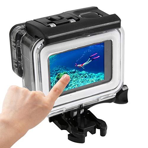 Ychaoya Voor GoPro HERO5 30m Waterdichte PC & ABS Behuizing Beschermende Case + Touch Back Cover met gesp Basic Mount & Lange Schroef, Backcover Afmetingen: 7 x 6 cm