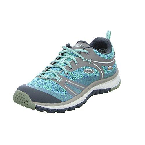 KEEN Women's Terradora Waterproof Hiking Shoe, Bungee Cord/Malachite, 5 M US