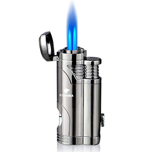 Lighters with Punch Lighter Double Jet Refillable Inflatable