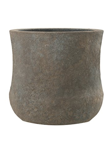 Esteras Emsa 8519831527 Fiberglas Blumenkübel Pflanzkübel Kerry braun, Old Stone (27 x 27 cm)