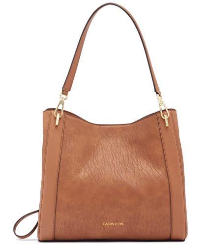 Calvin Klein Ellie Novelty Triple Compartment Shoulder Bag, Caramel