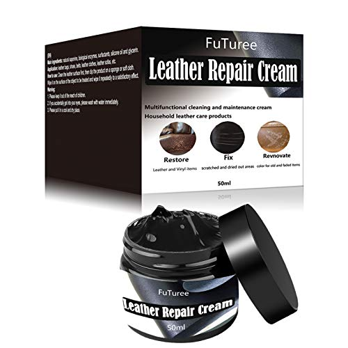 Leather Repair Cream,Leather Restorer,Black Leather Recoloring Balm for...