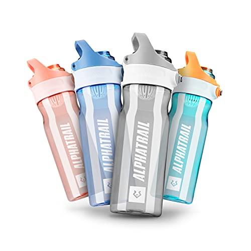 Alphatrail Tritan Borraccia Jimmy 500ml Grigio I 100% Prova di Perdita I Senza BPA & Ecologicamente I Lavabile in Lavastoviglie I Per un'idratazione ottimale durante lo sport