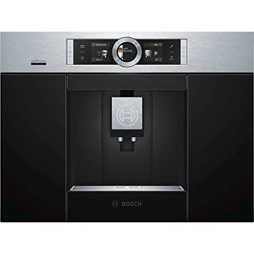 Bosch CTL636ES6 - Cafetera (Integrado, Máquina espresso, 2,4 L, Molinillo integrado, 1600 W, Negro, Acero inoxidable)