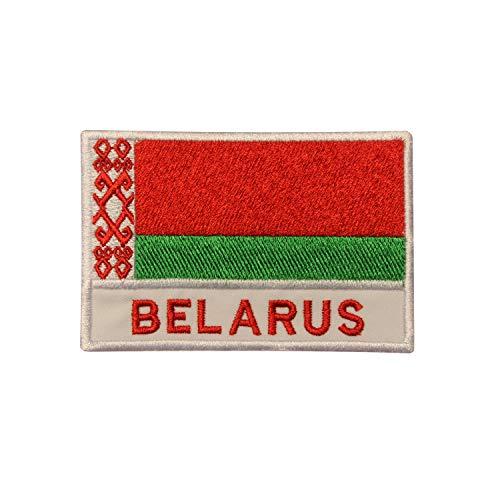 Bestickter Aufnäher mit Nationalflagge von Belarus, zum Aufbügeln oder Aufnähen, für Kleidung etc.