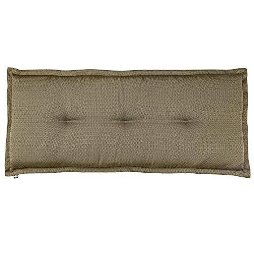 Kopu®-bankkussen Manchester Taupe | Tuinkussen voor tuinbank | Taupe tuinkussen 120 x 50 cm | Speciaal geweven stof | Stevig schuim voor extra comfort | 100% Dralon afgewerkt met een teflonlaag