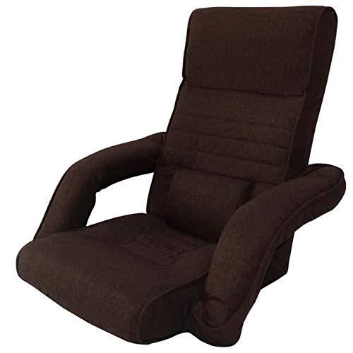 WHOJA Sillón Reclinable Ajuste de 14 velocidades con reposabrazos Dormitorio Confortable Pequeño sofá Plegable Sillón Sillon Relax (Color : Brown)