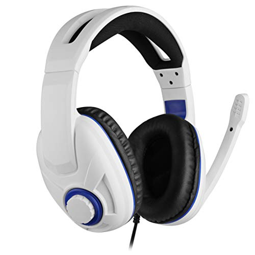 Wired Gaming Headset für PC, White Over Ear Kopfhörer Stereo Headset mit Mikrofon für Ps4 Ps5 Xbox Switch PC